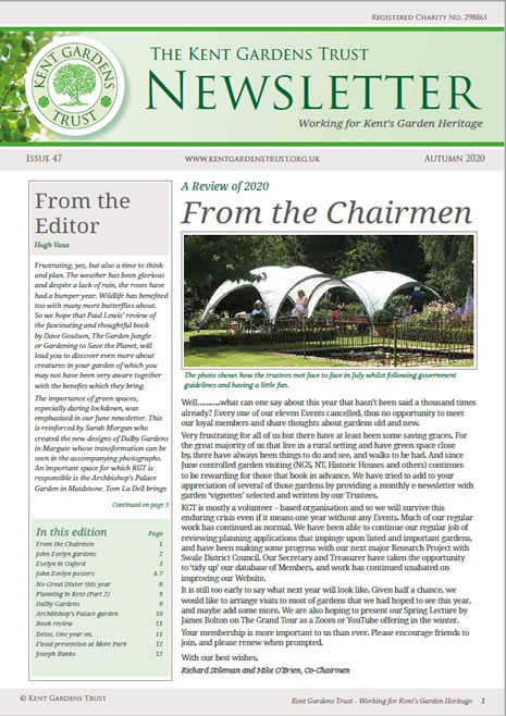 Picture of latest newsletter